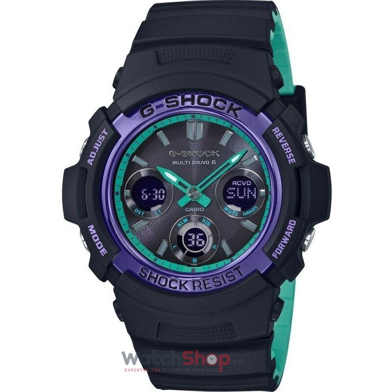 Ceas Casio G-SHOCK AWG-M100SBL-1AER MultiBand 6 Tough Solar de la Casio