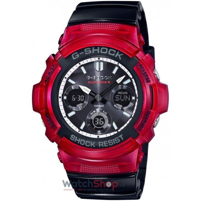 Ceas Casio G-SHOCK AWG-M100SRB-4AER MultiBand 6 Tough Solar de la Casio