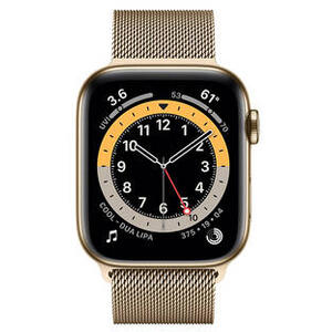 SmartWatch Apple S6 GPS + Cellular,  Gold Stainless Steel,44mm
