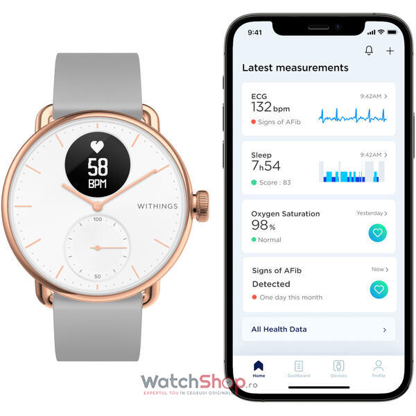 SmartWatch Withings SCANWATCH Hybrid HWA09-model 5-All-Int-38mm