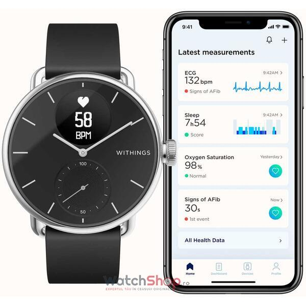 SmartWatch Withings SCANWATCH Hybrid  HWA09-model 2-All-Int-38mm