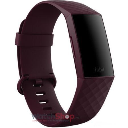 Curea (bratara) ceas Fitbit Charge 4 Classic Band Rosewood (Large)