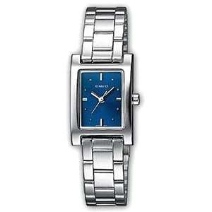 Ceas Casio Ladies Analog Rectangular Watch Blue Face