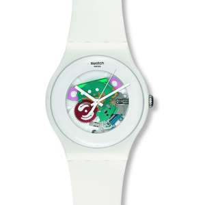 Ceas Swatch ORIGINALS SUOW100 White Lacquered