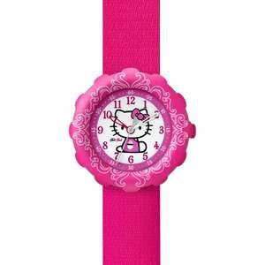 Ceas Flik Flak HELLO KITTY ZFLS016 Pink Watch and Purse