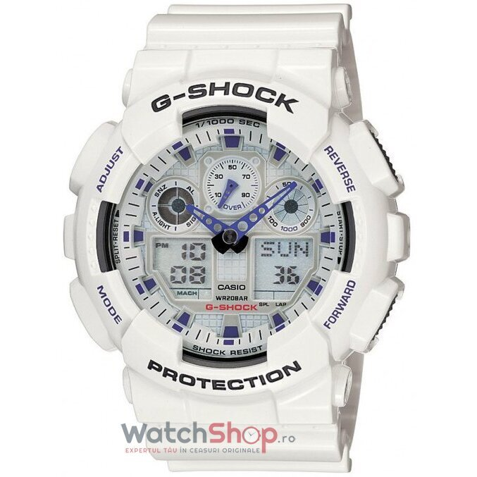 Ceas Casio G-SHOCK GA-100A-7AER Antimagnetic